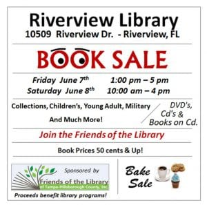 Friends of the Riverview Library Book Sale @ Riverview Branch Library